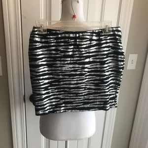 Forever 21 Zebra Print Mini Skirt
